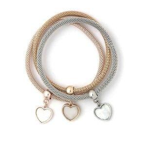 Cherie Jewelry - HEART CHARM BRACELET SET